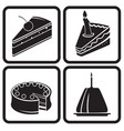 icons cakes vector image