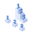 isometric three steps vector image