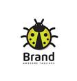 ladybug is an arthropod logo vector image