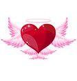 love heart angel icon vector image