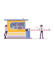 male security guard at toll booth vector image
