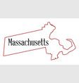 massachusetts vector image