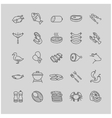 meat and fish icons vector image vector image