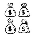 money bag icon moneybag black vector image