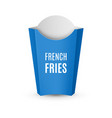 packaging for french fries vector image