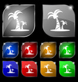 paml icon sign Set of ten colorful buttons with vector image vector image