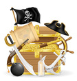 pirate concept icons 04 vector image vector image