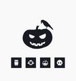pumpkin icon halloween set simple sign vector image vector image