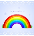 rainbow beautiful vector image