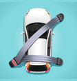 safety car seat belts concept vector image vector image