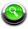 Searching 3d round button vector image vector image