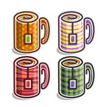 set abstract tea cups vector image vector image