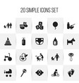 set of 20 editable baby icons includes symbols vector image