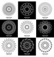 set of nine vintage geometric circular elements vector image