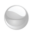 shiny sphere 02 white vector image vector image