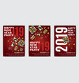 sketch christmas menu holiday vector image vector image