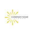 sun icon logo vector image