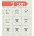 teech icon set vector image vector image