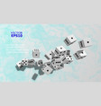 the dice fall on the marble surface presentation vector image