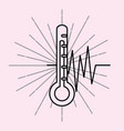 thermometer medical supply healthcare vector image