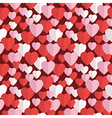 valentine hearts pattern vector image vector image
