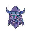viking head mascot mosaic vector image vector image