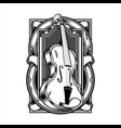 viola musical instrument string hand drawingshirt vector image