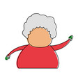 woman old fat avatar icon image vector image