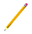 wood pencil object school style vector image vector image