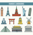World landmarks travel and tourism