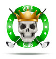 Golf club or team badges and labels logo vector image