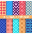 Graphic seamless patterns tiling vector image