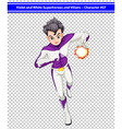 A violet and white superhero with a blazing power vector image vector image