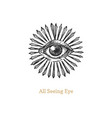 all seeing eye with sunburst eye providence vector image
