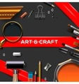Art and crafts template vector image