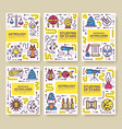 astrology thin line brochure cards set the vector image