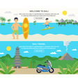 Bali Travel Banners vector image vector image