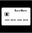 bank cit card the white color icon vector image vector image