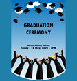 banner ror draduation ceremony vector image vector image