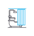 bathroom linear icon concept bathroom line vector image vector image