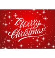 Beautiful text design of Merry Christmas on red vector image vector image