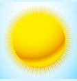 bright sun over blue sky backdrop sun for natural vector image