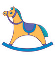 children s rocking chair horse for small children vector image vector image