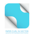 Color Paper Page Curl with Shadow Isolated vector image vector image