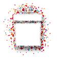 Confetti gift celebration background vector image
