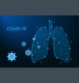 coronavirus cells attack human lungs covid-19 vector image vector image