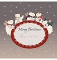 Cute polar bears celebrating Christmas vector image vector image