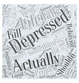 depression Word Cloud Concept vector image vector image