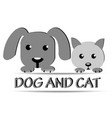 dog and cat face logo vector image