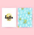 easter 80s style posters vector image
